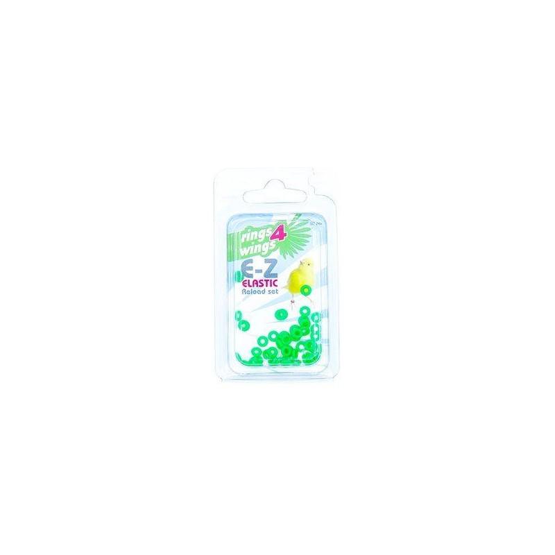 Elastiques E-Z par 50 pièces - Taille: 2mm - Couleur: Jaune 880ERR03-Green Rings 4 Wings 5,95 € Ornibird