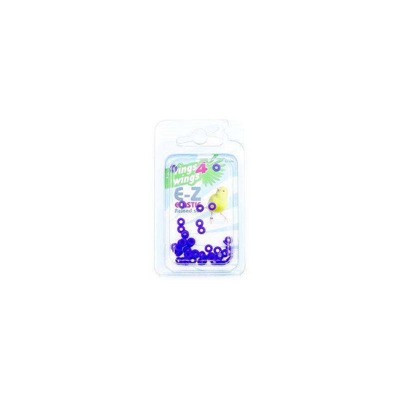 Elastiques E-Z par 50 pièces - Taille: 2mm - Couleur: Jaune 880ERR03-Violet Rings 4 Wings 5,95 € Ornibird