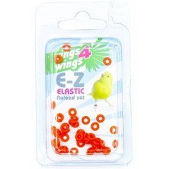 Elastiques E-Z par 50 pièces - Taille: 2mm - Couleur: Jaune