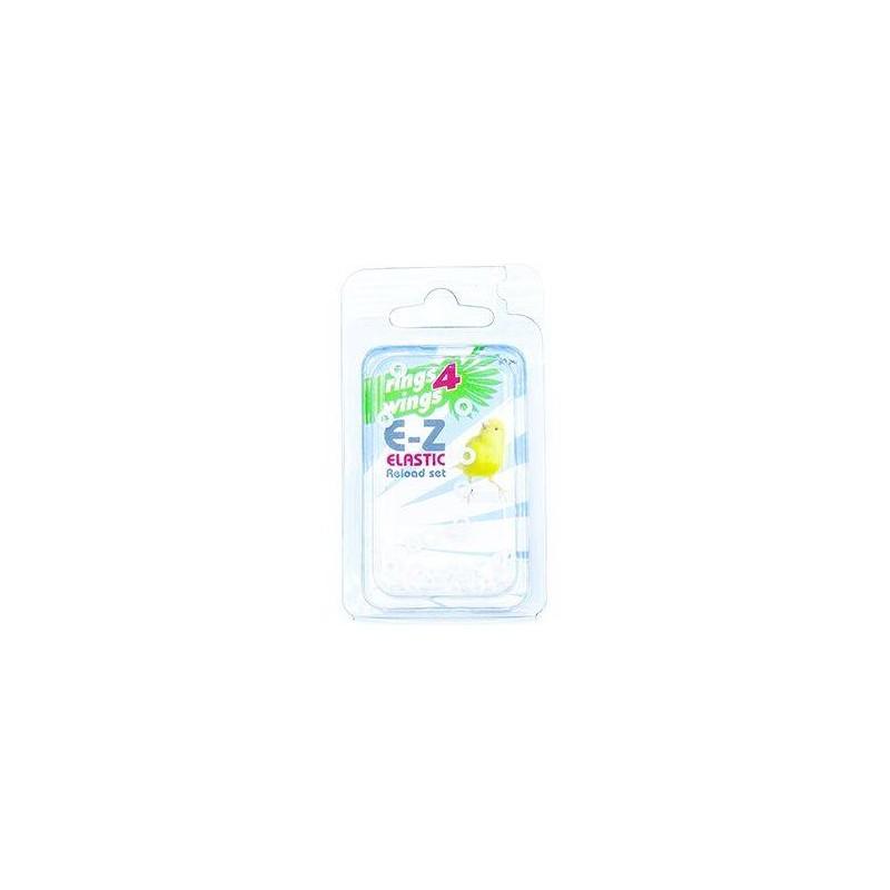 Elastiques E-Z par 50 pièces - Taille: 2mm - Couleur: Jaune 880ERR03-White Rings 4 Wings 5,95 € Ornibird