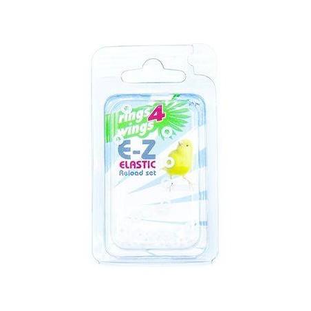 Bagues élastiques E-Z par 50 pièces - Taille: 3mm - Couleur: Blanc