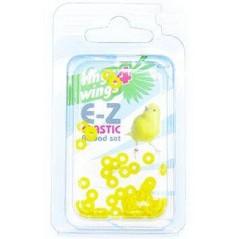 Bagues élastiques E-Z par 50 pièces - Taille: 3.5mm - Couleur: Jaune