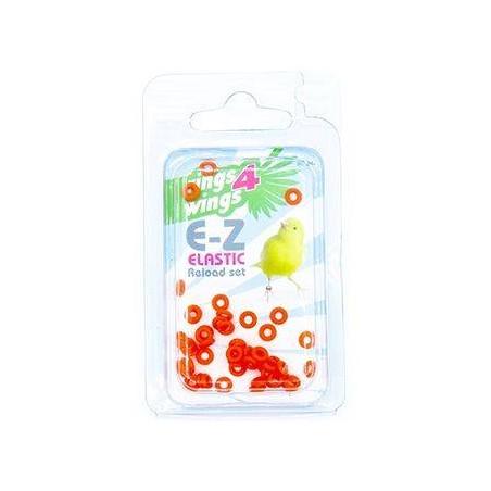 Bagues élastiques E-Z par 50 pièces - Taille: 3.5mm - Couleur: Orange
