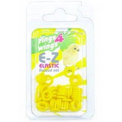 Bagues élastiques E-Z par 50 pièces - Taille: 6 mm - Couleur: Jaune 880ERR06-Yellow Rings 4 Wings 5,95 € Ornibird