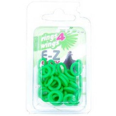Bagues élastiques E-Z par 50 pièces - Taille: 8 mm - Couleur: Jaune 880ERR08-Green Rings 4 Wings 5,95 € Ornibird