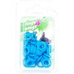 Bagues élastiques E-Z par 50 pièces - Taille: 8 mm - Couleur: Jaune 880ERR08-Blue Rings 4 Wings 5,95 € Ornibird