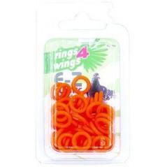 Bagues élastiques E-Z par 50 pièces - Taille: 8 mm - Couleur: Orange