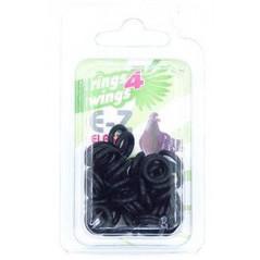 Bagues élastiques E-Z par 50 pièces - Taille: 8 mm - Couleur: Noir