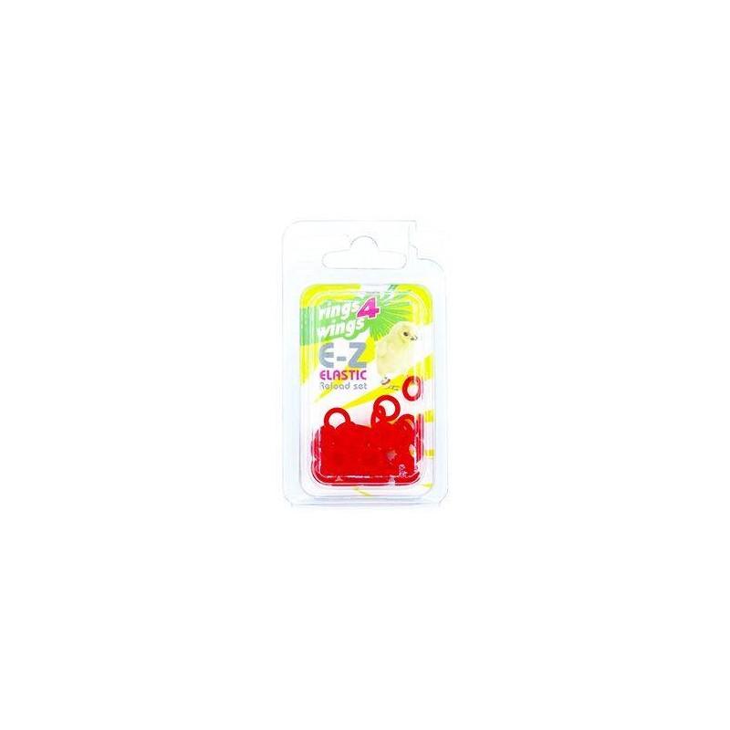 Bagues élastiques E-Z par 50 pièces - Taille: 6 mm - Couleur: Rouge 880ERR06-Red Rings 4 Wings 5,90€ Ornibird