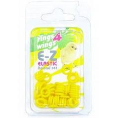 Bagues élastiques E-Z par 50 pièces - Taille: 4.5mm - Couleur: Jaune
