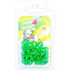 Bagues élastiques E-Z par 50 pièces - Taille: 4.5mm - Couleur: Jaune 880ERR45-Green Rings 4 Wings 5,95 € Ornibird