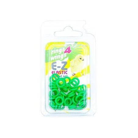 Bagues élastiques E-Z par 50 pièces - Taille: 4.5mm - Couleur: Vert