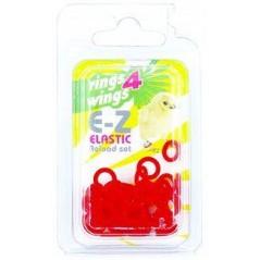 Bagues élastiques E-Z par 50 pièces - Taille: 4.5mm - Couleur: Rouge
