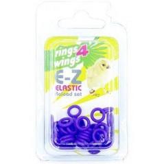 Bagues élastiques E-Z par 50 pièces - Taille: 4.5mm - Couleur: Violet