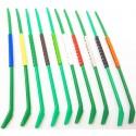 10 Bagues ouvertes clic en plastique pour exotiques Taille : 2,5mm Couleur : Vert clair