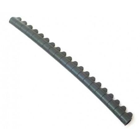 20 Bagues ouvertes en aluminium pour canaris Taille : 3mm Couleur : Noir