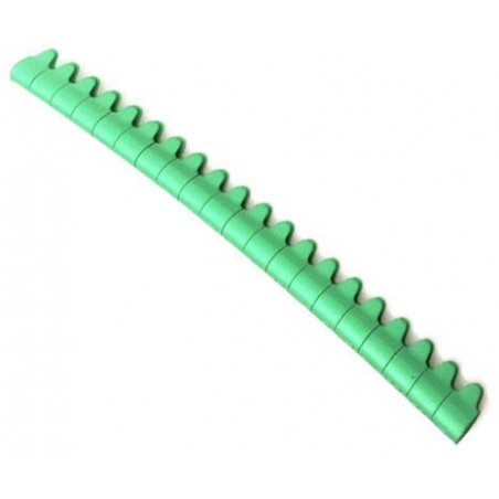 20 Bagues ouvertes en aluminium pour canaris Taille : 3mm Couleur : Vert