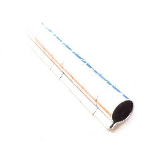 10 Bagues ouvertes en aluminium pour grandes perruches Taille : 6mm Couleur : Bleu