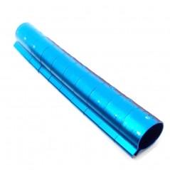 10 Bagues ouvertes en aluminium pour faisans Taille : 12mm Couleur : Bleu