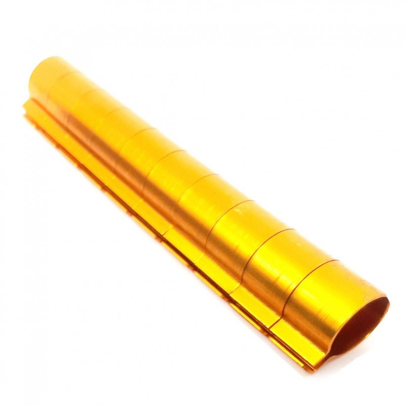 10 Bagues ouvertes en aluminium pour faisans Taille : 12mm Couleur : Orange