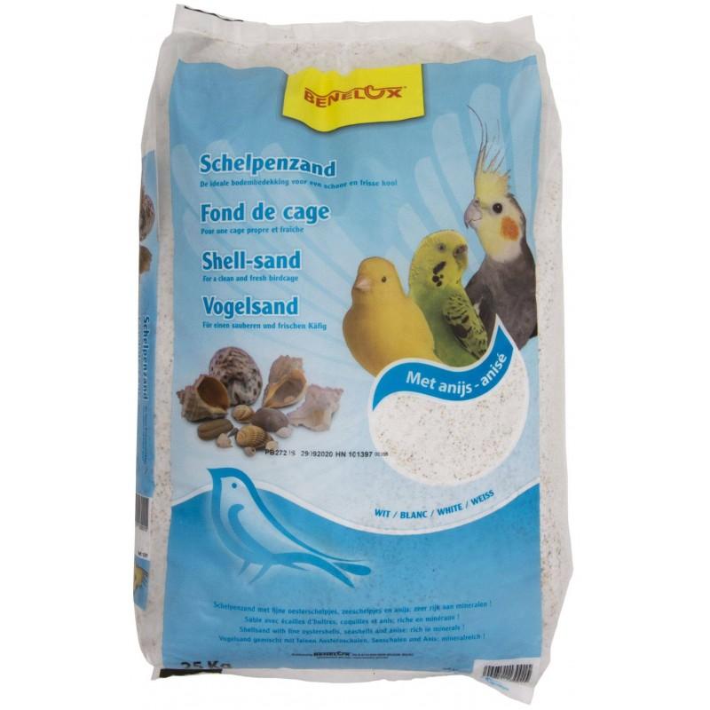 Sable anisé blanc pour fond de cage 25kg - Benelux 131 Benelux 10,36€ Ornibird