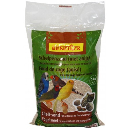 Sable anisé brun pour fond de cage 5kg - Benelux