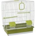Cage pour oiseaux blanche et verte 39x25,5x45cm