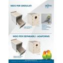 Nid pour perruche en plastique, démontable et lavable - 2G-R