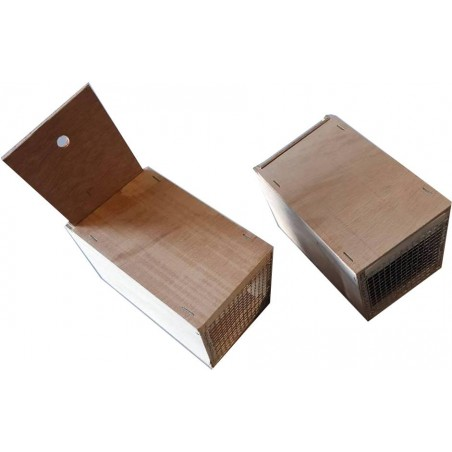 Boite de transport en bois 10 x 11,5 x 18 cm
