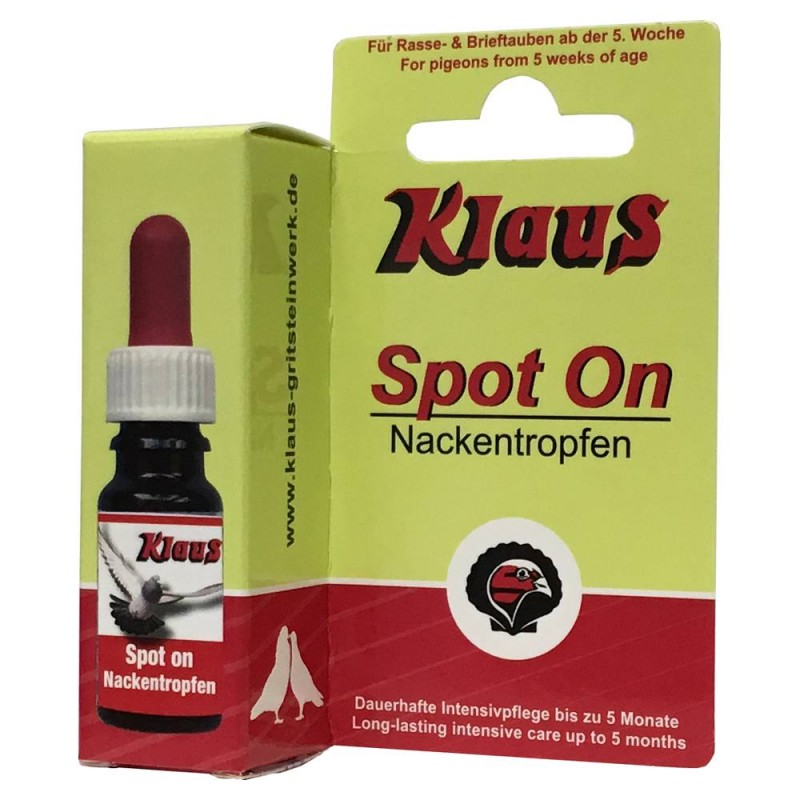 Spot On (drops to the neck birds and pigeons - 5 months) - 10ml Klaus 37001 Klaus 13,00 € Ornibird
