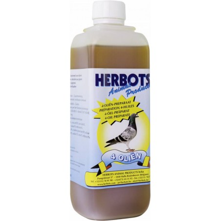 4 Oils (wheat germ oil, cod liver, garlic and tounesol) 500ml - Herbots