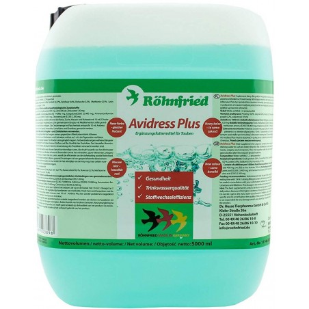 Avidress more (hygiene of drinking water) 5L - Röhnfried - Dr. Hesse Tierpharma GmbH & Co. KG 79046 Röhnfried - Dr Hesse Tier...