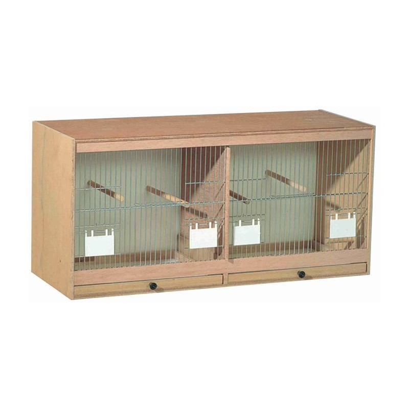 Cage farmer in wood, facade with doors-feeders 80x40x30cm 14733 Benelux 54,54 € Ornibird