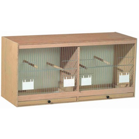 Cage farmer in wood, facade with doors-feeders 80x40x30cm