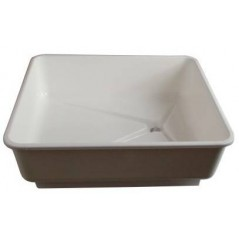 Bain carré en plastique pour pigeon avec bouchon - 57x55x20cm 26020 Private Label - Ornibird 25,25 € Ornibird