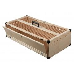 Panier d'entraînement en bois, avec séparation - 80x40x22 cm 26072 Private Label - Ornibird 59,95 € Ornibird