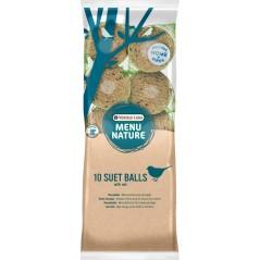 10 Suet Balls, boules mésanges (Display 96) - Menu Nature (Versele-Laga) 464405 Versele-Laga - Oropharma 1,95 € Ornibird