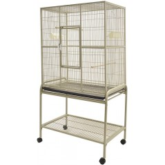Aviary Beige with stand on casters 81x54x157cm - Vadigran