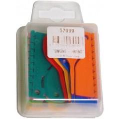 10 x 10 Bagues ouvertes en plastique pour exotiques Taille : 2,5mm Couleurs : 10 différentes 14347 Benelux 15,91 € Ornibird