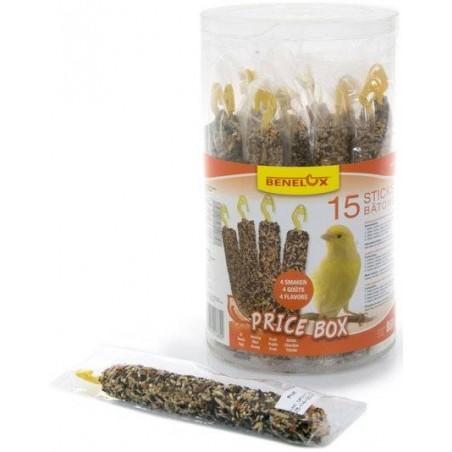 Coffret Promo de 15 bâtonnets de graines pour canaris - Benelux