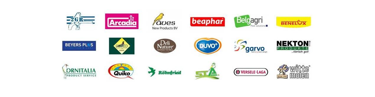 Producten gesorteerd door de fabrikanten