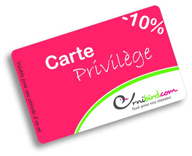 Carte Privilège 10%